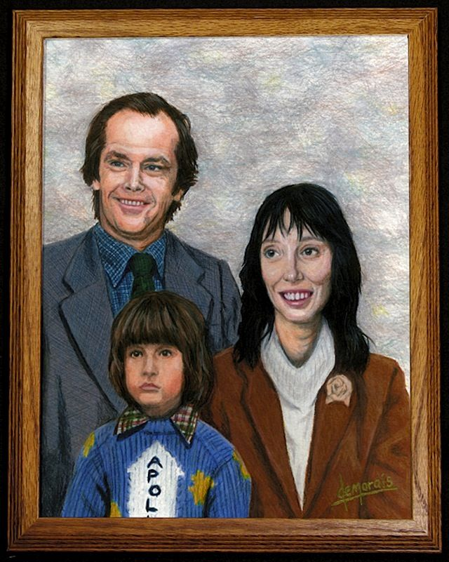 Painted Portraits of Classic Pop Culture Families (w/ Families Bueller, Huxtable, Draper, Bluth, McFly, Griswold + more) > Funny Shizznits, Illustrationen, Paintings, Serien > back to the future, bueller, gossip, hollywood, huxtable, mad men, pop culture
