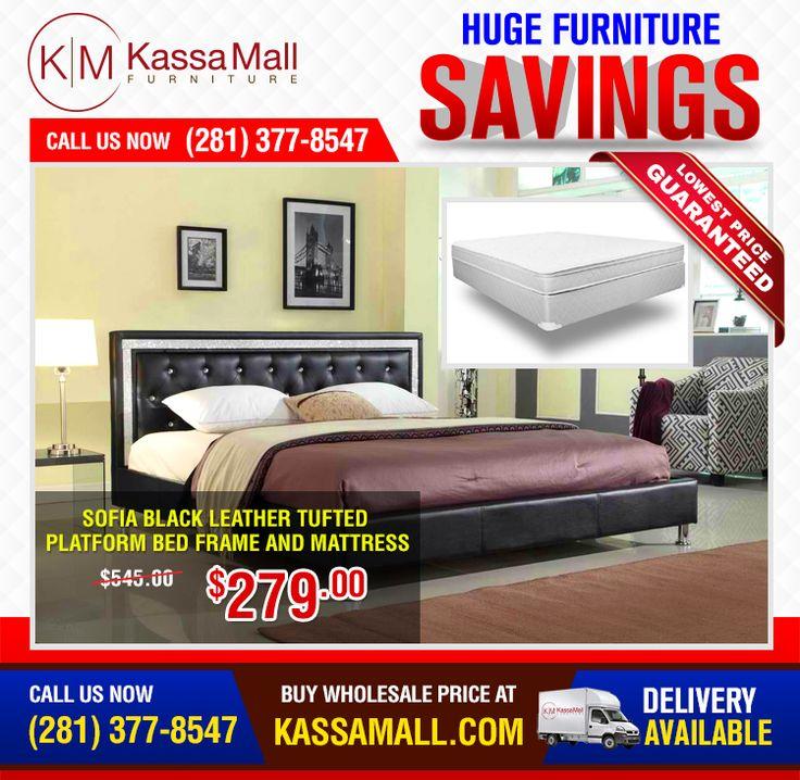 Sofia black leather tufted platform bed frame and mattress. 24 best Online Shop of Bedroom Sets  kassamall com images on
