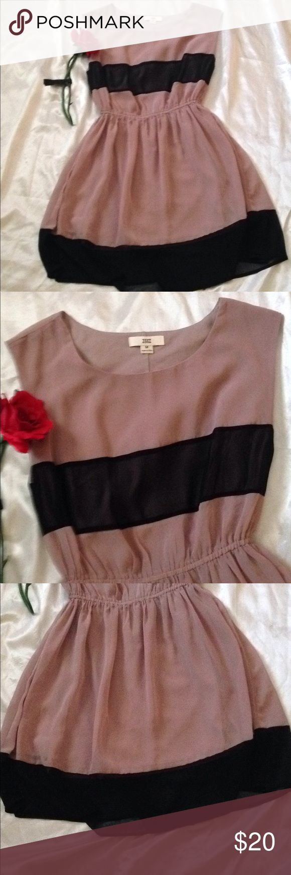 Classy ISSI Dress Beige and Black Perfect dress for work or a special occasion. ISSI Dresses Midi