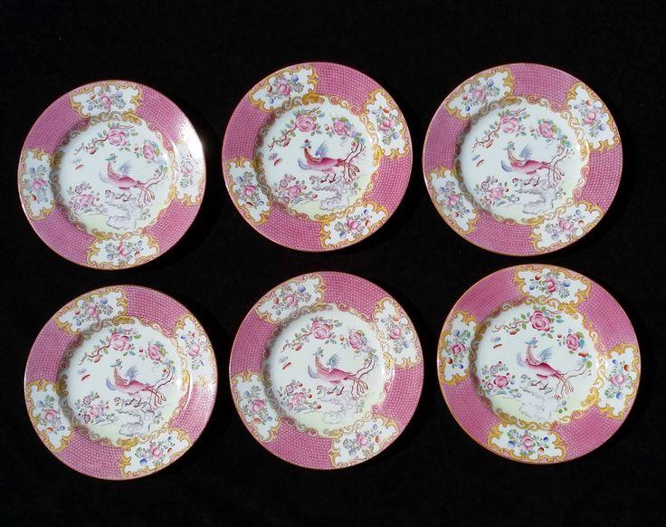 Minton Pink COCKATRICE 6 1/4  Bread u0026 Butter Plates 1891-1912. English ChinaChina ... & 38 best English China images on Pinterest | English china Cutlery ...