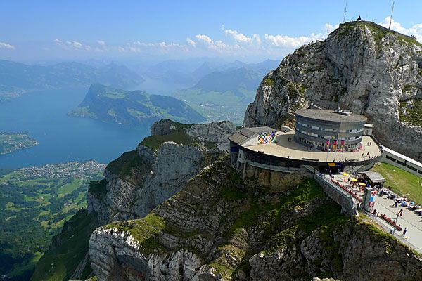 Mt. Pilatus, Luzern, Switzerland. I went to the top! And had a strong cup of hot chocolate (with alcohol!).