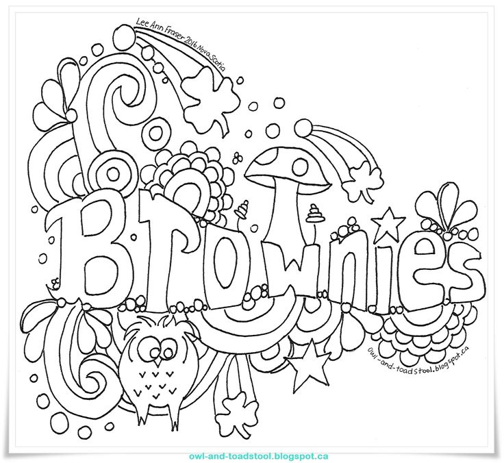 brownie printable coloring pages - photo#6