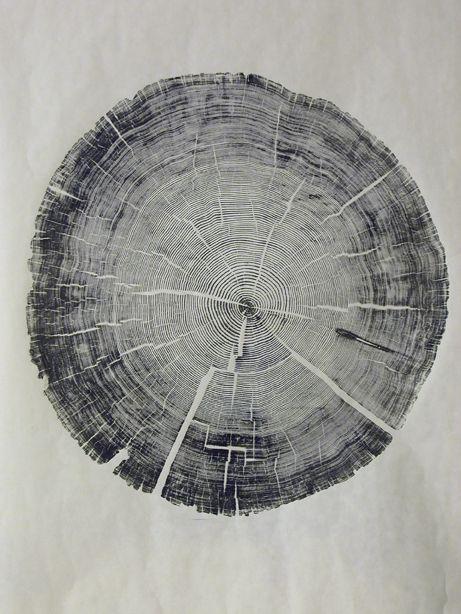 tree slice print