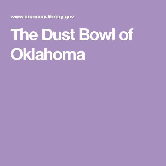 The Dust Bowl of Oklahoma