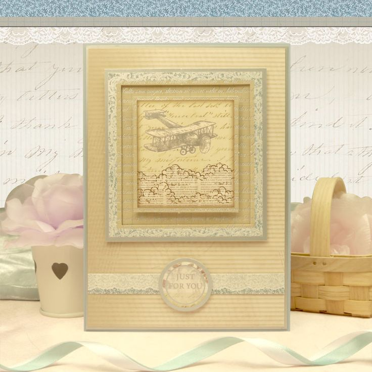 Card made using Antique Chic Luxury Card Collection by Hunkydory Crafts