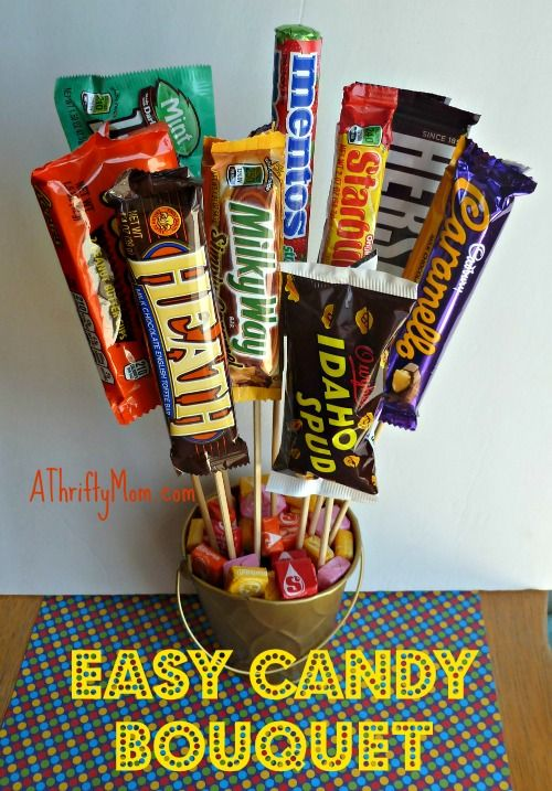 Easy candy bouquet easygift thriftygift candybars