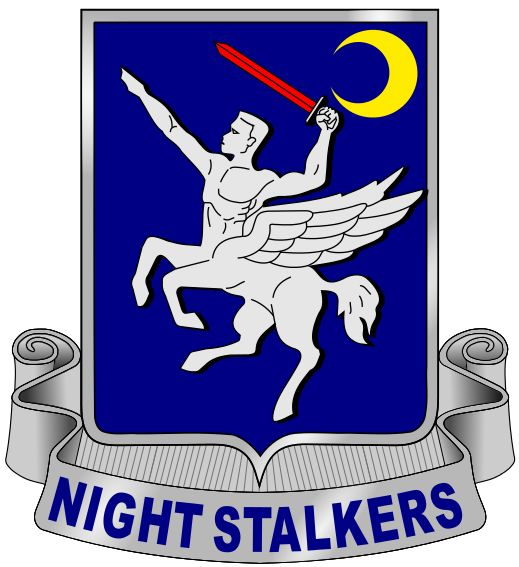 """160th Special Operations Aviation Regiment distinctive unit insignia."" (US Army Night Stalkers)"