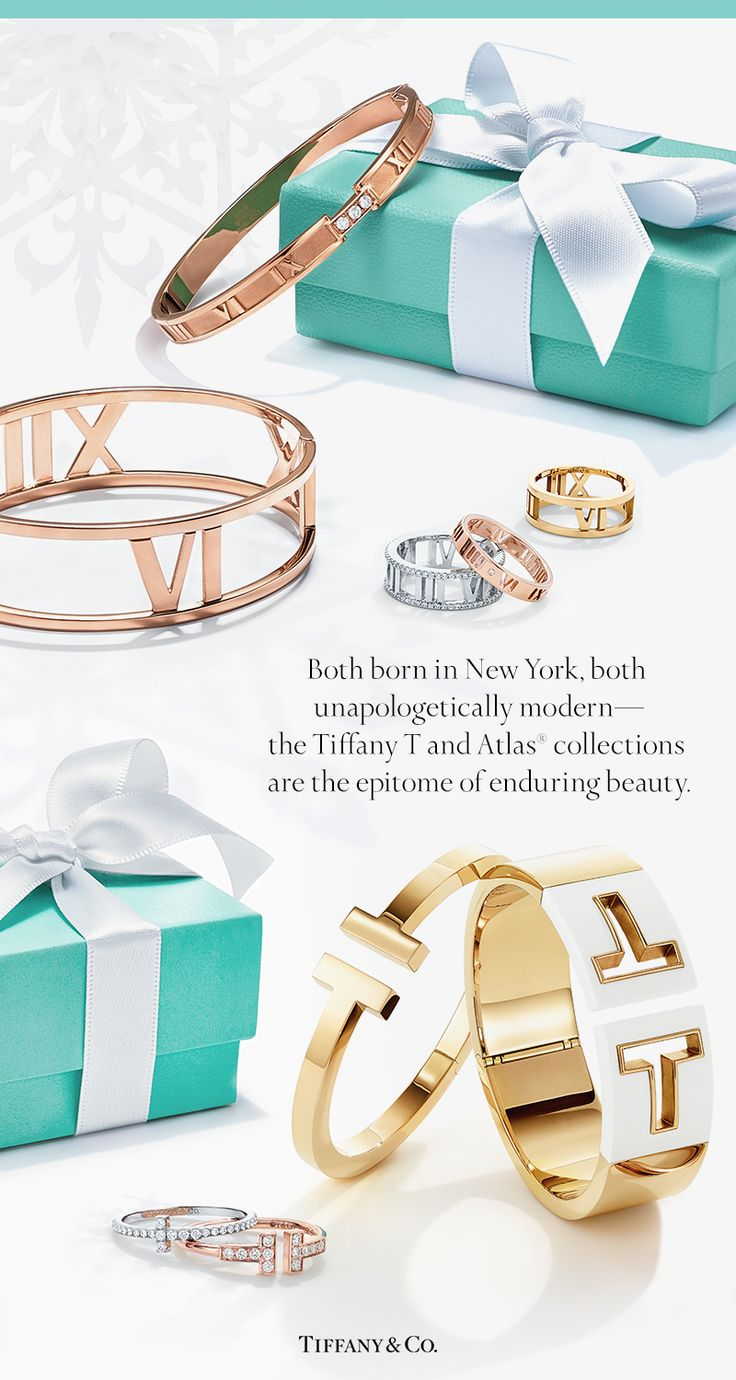 Instantly recognizable as modern icons, the Tiffany T and Atlas® collections are rooted in the belief that bold is best.