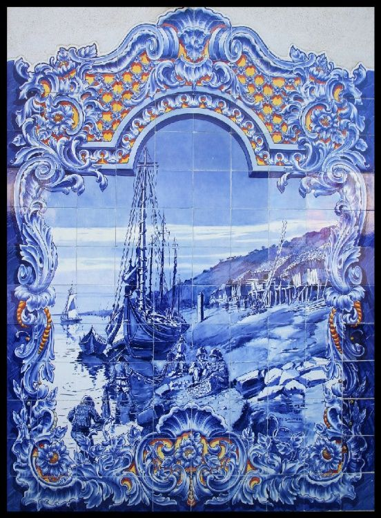 Azulejos (portuguese tiles)  Painel do mercado de Santarém.  #Portugal .#jorgenca