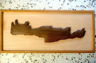 Εργαστηριο Κρητικης Λυρας .....(hand-crafted cretan  musical instruments): ΚΑΔΡΟ ΜΕ ΑΝΑΓΛΥΦΗ ΤΡΙΣΔΙΑΣΤΑΤΗ ''ΚΡΗΤΗ''.........Δ...