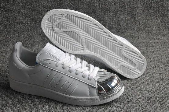 Adidas Superstar 80s Metal Toe White Liquid Silver