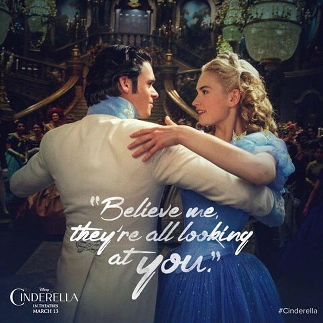 """""""""""I made sure that everyone could come -- because I hoped to see you again."""" #Cinderella"""""""