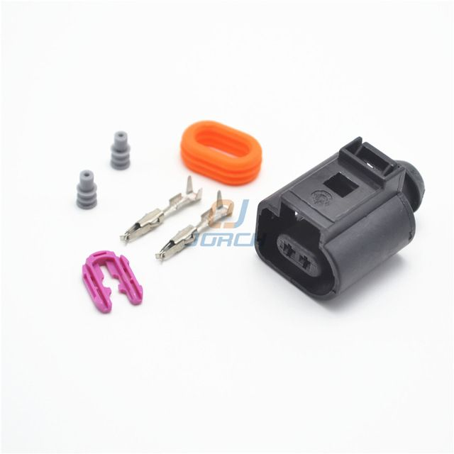 10 kits 1 pin sealed waterproof electrical wire cable connector plug black