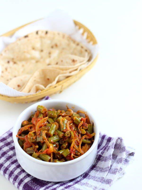 #green #beans onion tomato recipe sabzi #indian #fisolen