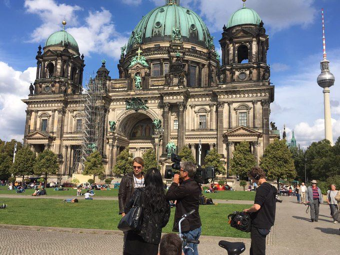 Recordings at the Berlin Cathedral Church for german TV ZDF Leute Heute-10-Sept 2017-Twitter