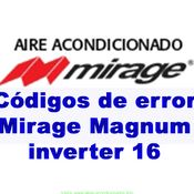 Códigos de error Mirage Magnum inverter 16