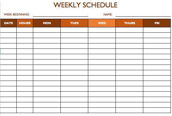 work schedule template 5 days vikash photocopy. Black Bedroom Furniture Sets. Home Design Ideas