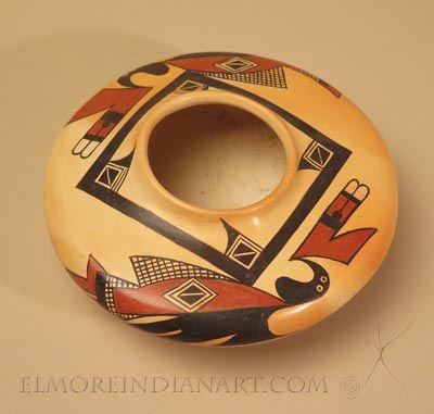 Hopi Seed Jar with Sikyatki Bird by Rachel Sahmie