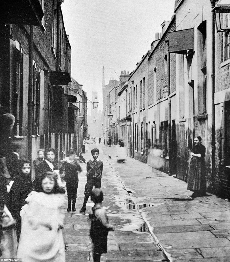 A photo entitled 'View In Wapping' in the groundbreaking book.Disguised as a stranded sailor, American journalist London took to the streets of the East End to document the struggles of London's destitute
