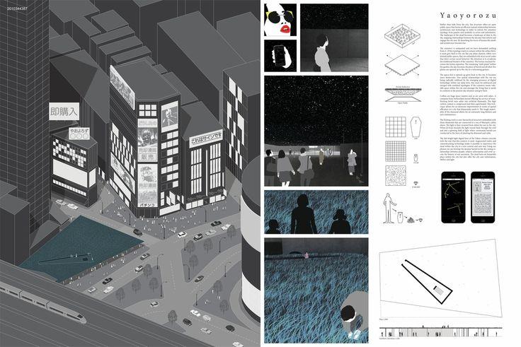 """ YAOYOROZU "" - Tokyo Vertical Cemetery competition finalist"