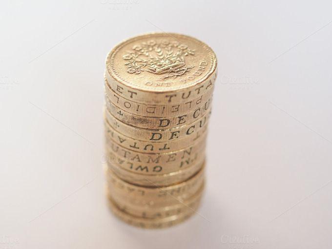Pound coin by UK Photos - Europa Fotos on Creative Market