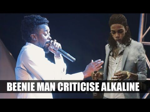 """Watch this video clip of King of the dancehall Beenie Man bashing Alkaline for not wanting to perform in Jamaica, Says Alkaline wont perform in """"DUTTY JAMAICA"""" is a diss to dancehall fans."""