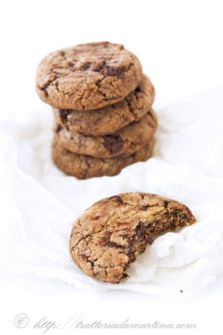American chocolate chip cookies { Trattoria da Martina }
