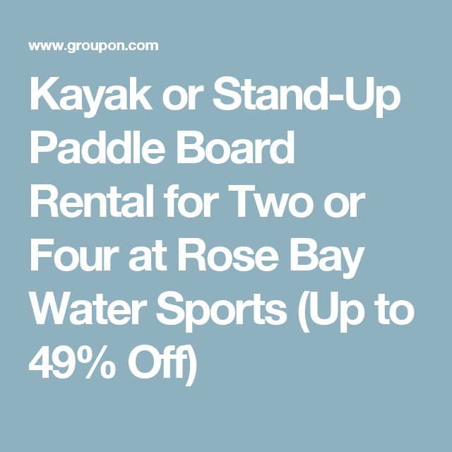 Kayak or Stand-Up Paddle Board Rental for Two or Four at Rose Bay Water Sports (Up to 49% Off)