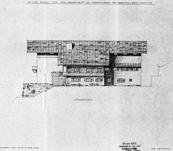 Refurbishment plans by architect Alois Degano