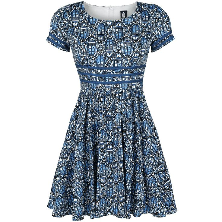 Tardis Nouveau Print Dress - Kurzes Kleid von Doctor Who