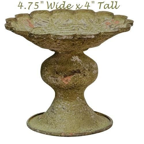 French Country Metal Candle Stand Shabby Garden Chippy Cottage DISTRESSED #Unbranded #FrenchCountry