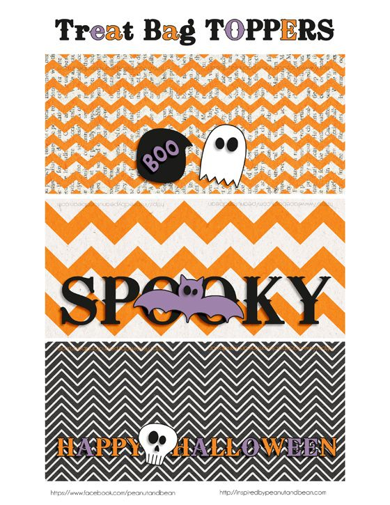 Halloween Bag Toppers {Freebie} | Inspired By Peanut & Bean