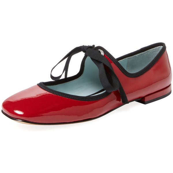 Marc Jacobs Women's Lisa Patent Leather Mary Jane - Red, Size 38.5 ($149) ❤ liked on Polyvore featuring shoes, flats, red, ballet shoes, mary jane flats, red mary jane shoes, patent leather ballet flats and mary jane shoes flats