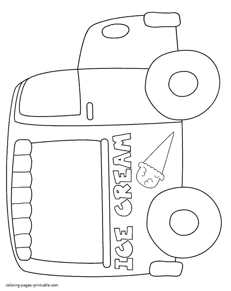 Ice Cream Truck Sheets Coloring Pages