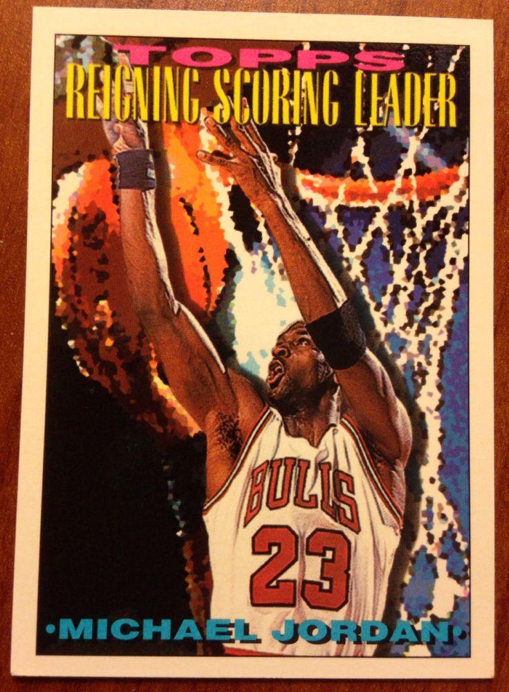 Michael Jordan 1994 Chicago Bulls Basketball SCORING LEADER Card Vintage HOF