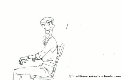 Roger by Milt Kahl / 281 individual drawings??! I'm always pooped after 1 or 2! Animation must take forever!