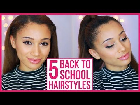 5 Perfect Back to School Hairstyles with LuhhsettyXO - YouTube