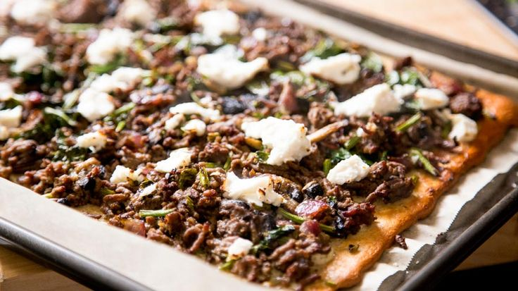 """""""Lebanese Protein Pizza"""" The recipe below makes 2 family sized pizzas. Adjust the recipe as required."""
