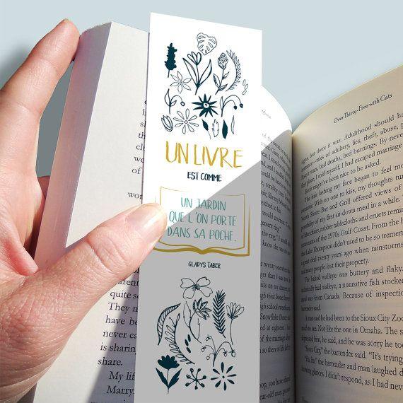 Marque pages « un livre est comme un jardin… »