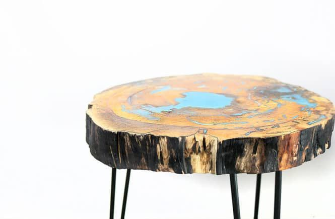 DIY Woodworking Ideas diy resin and wood table