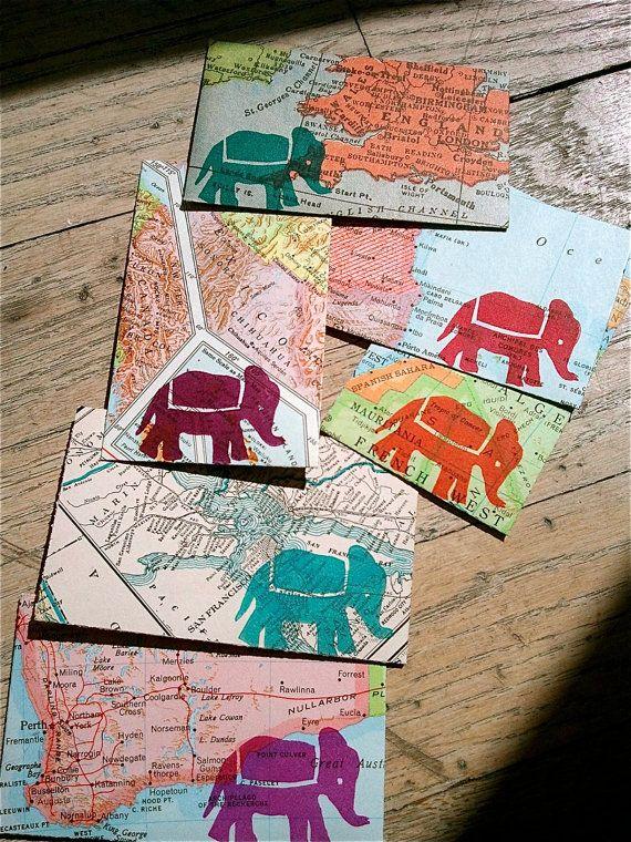 Envelopes - Maps. Weltkarten bedrucken