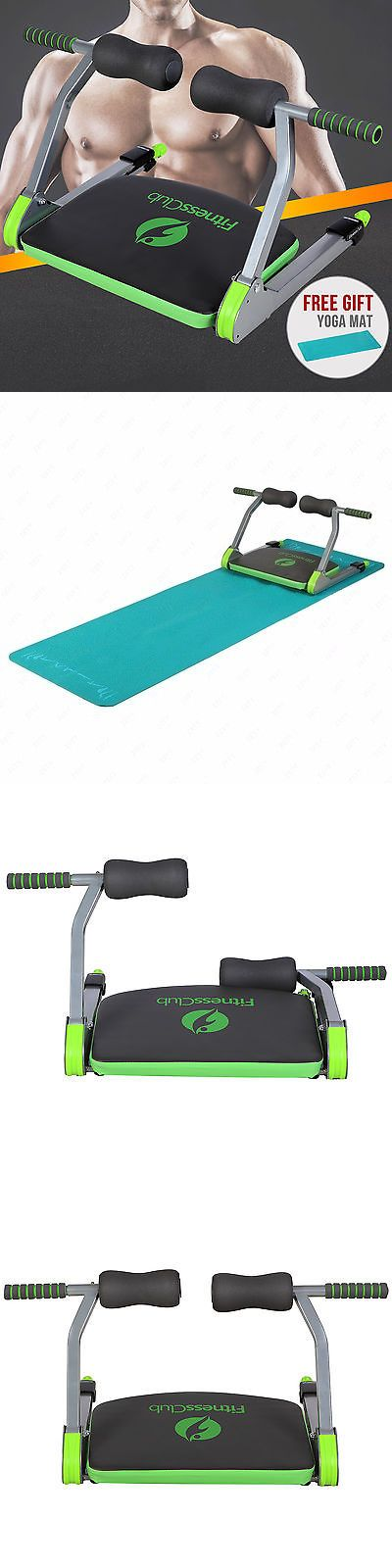 Abdominal Exercisers 15274: Ab Machine Total Workout Fitness Abdominal Exercise W/ Yoga Mat And Dvd Home Gym BUY IT NOW ONLY: $35.9