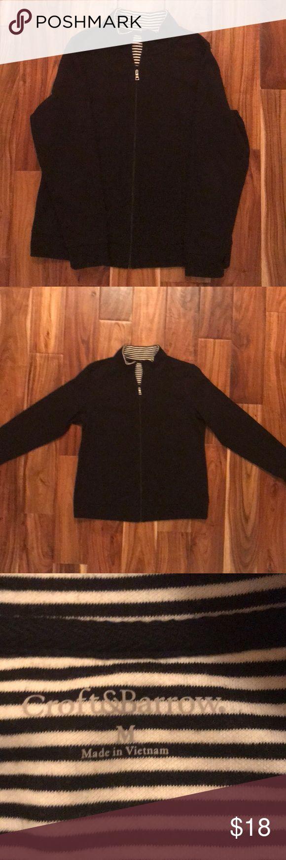 Black zip up, Croft and Barrow, size medium. Black zip up, Croft and Barrow, size medium. croft & barrow Tops Sweatshirts & Hoodies
