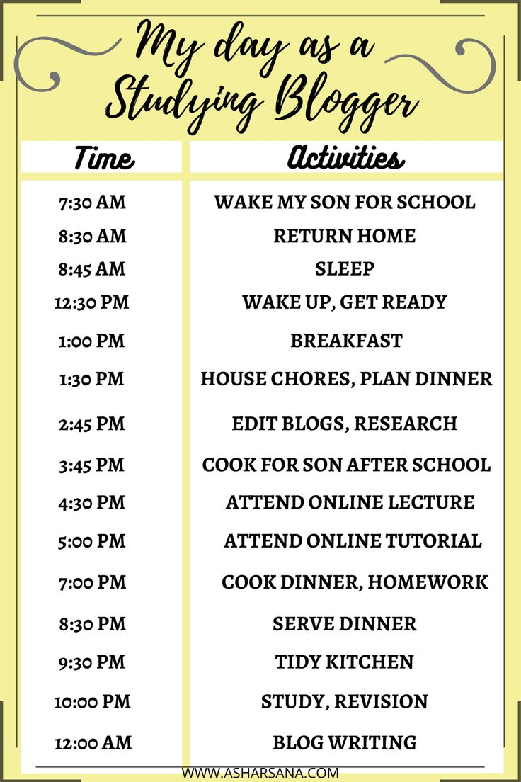 Daily Routine Schedule Of A Studying Blogger Studying Life Student Life How To Plan