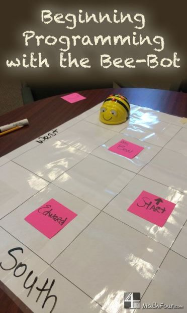 """The bee-bot programmable robot teaches logic, the basics of programming and how a computer """"thinks."""" Great for teaching location too"""