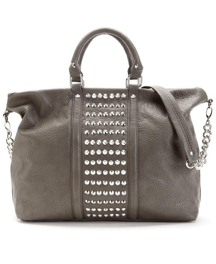 Grey Steve Madden Handbag, Brocket Tote - Macy's
