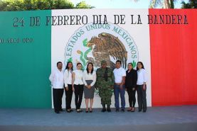 Arroyo Seco, Qro., 24 de Febrero del 2017. Con un evento de honores a nuestro labaro patrio autoridades militares, instituciones...