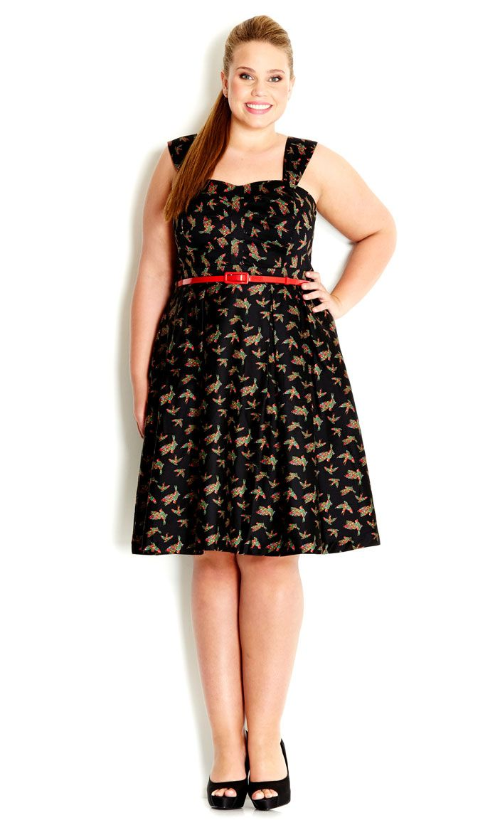 Christmas Fashion Wishlist - City Chic - LACE BIRDY DRESS - Women's Plus Size Fashion