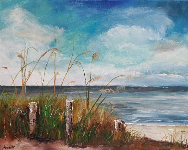 Oil Painting Of Englewood Beach Fl Art By Kathleen