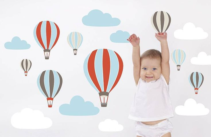 hot air balloons wall stickers by the little blue owl | notonthehighstreet.com
